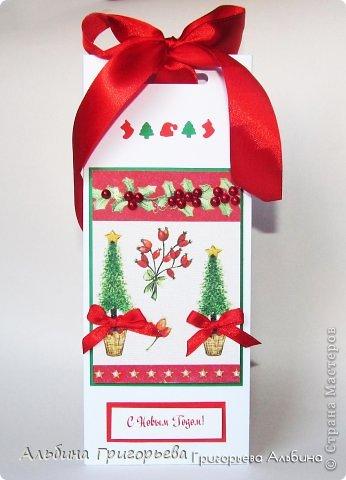 Новогодние Шоколадницы! Коробочка хорошего настроения для шоколадки! Потяни за бантик вверх найдёшь подарок!!! Поспешите, скоро Новый год! фото 5
