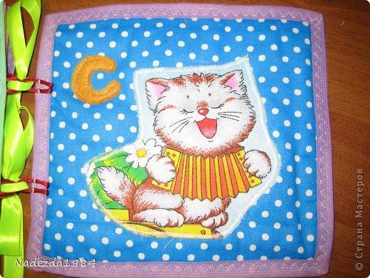 Книга на шнуровке, чтобы ее можно было разобрать по карточкам. Размер 18,5 на 20,5 см. На обложке пуговки: зайчик и божья коровка. фото 24