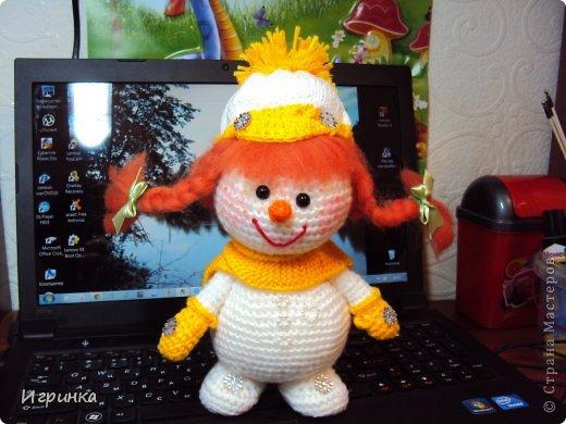 Здравствуй, страна! Представляю  новую новогоднюю парочку снеговиков. фото 2