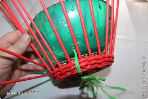 Мастер-класс Поделка изделие Плетение МК клубники Трубочки бумажные фото 8