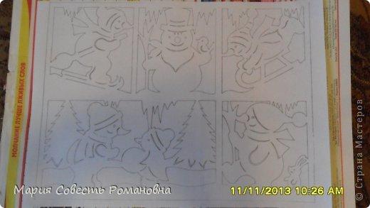 Картина панно рисунок Новый год Вырезание Работа на конкурс Ёлки-палки Новый Год Снеговики Бумага фото 3