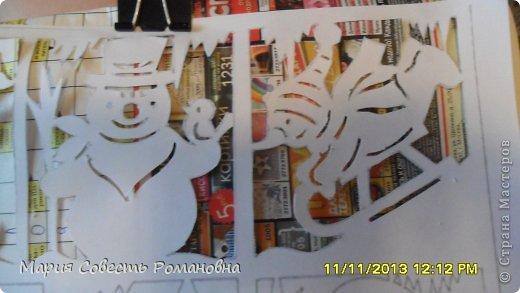 Картина панно рисунок Новый год Вырезание Работа на конкурс Ёлки-палки Новый Год Снеговики Бумага фото 7