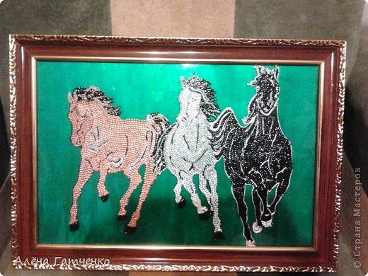 Здравствуйте мальчики и девочки! Я забежала очень быстренько показать вам своих лошадок в точечной росписи. фото 3