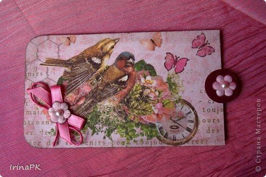 Такую винтажную открытку делала летом в подарок на День рождения из крафт пакета. фото 6