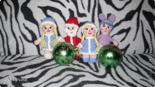 Игрушка Мастер-класс Новый год Вязание крючком Снегурочка Мастер-класс Пряжа фото 22