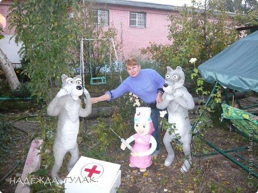 Фигуры для сада из пены своими руками фото
