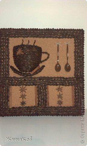 Панно из кофейных зерен своими руками фото