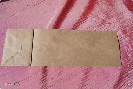Такую винтажную открытку делала летом в подарок на День рождения из крафт пакета. фото 10