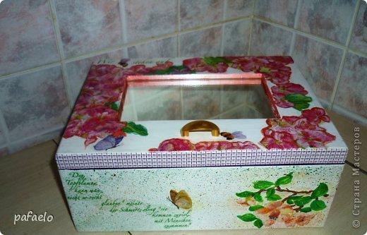 ...вот опять любимый муж сделал мне деревянный коробочек.который превратился в такую шкатулочку))) фото 4
