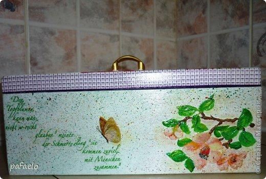 ...вот опять любимый муж сделал мне деревянный коробочек.который превратился в такую шкатулочку))) фото 5