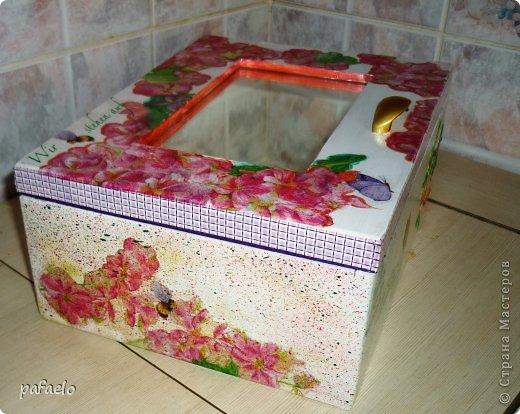 ...вот опять любимый муж сделал мне деревянный коробочек.который превратился в такую шкатулочку))) фото 6