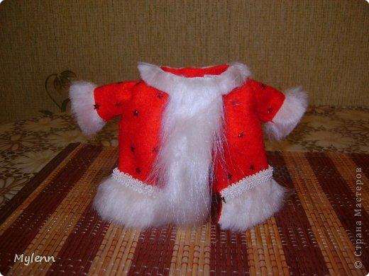 Игрушка Мастер-класс Новый год Шитьё Дед Мороз Ткань фото 12