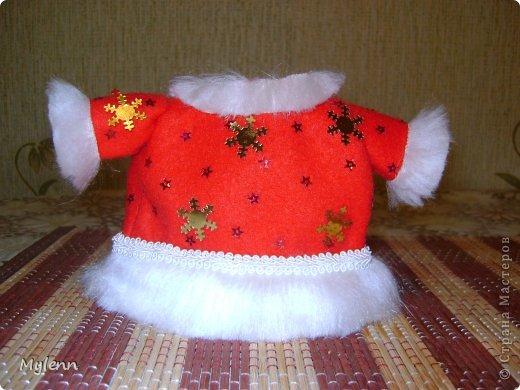 Игрушка Мастер-класс Новый год Шитьё Дед Мороз Ткань фото 14