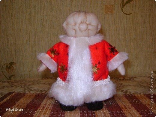 Игрушка Мастер-класс Новый год Шитьё Дед Мороз Ткань фото 15