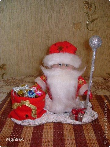 Игрушка Мастер-класс Новый год Шитьё Дед Мороз Ткань фото 25