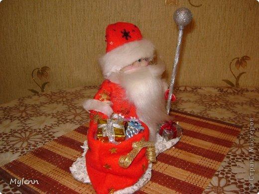 Игрушка Мастер-класс Новый год Шитьё Дед Мороз Ткань фото 28