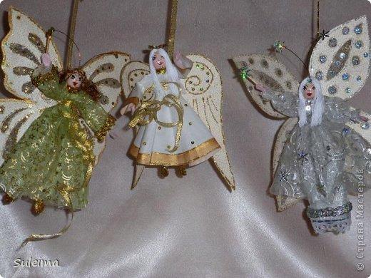 Мастер-класс Поделка изделие Новый год Лепка Шитьё Ангелы и феечки на елку новогодняя игрушка фото 2