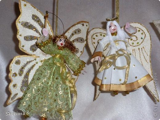 Мастер-класс Поделка изделие Новый год Лепка Шитьё Ангелы и феечки на елку новогодняя игрушка фото 1