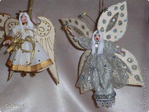 Мастер-класс Поделка изделие Новый год Лепка Шитьё Ангелы и феечки на елку новогодняя игрушка фото 3