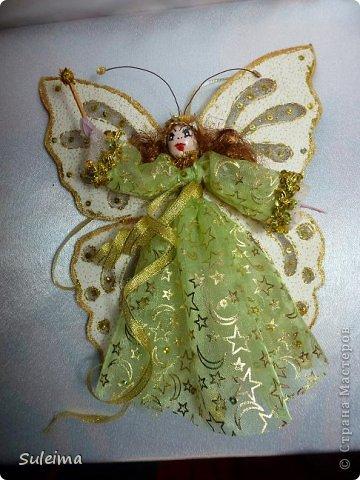 Мастер-класс Поделка изделие Новый год Лепка Шитьё Ангелы и феечки на елку новогодняя игрушка фото 39