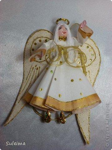 Мастер-класс Поделка изделие Новый год Лепка Шитьё Ангелы и феечки на елку новогодняя игрушка фото 38