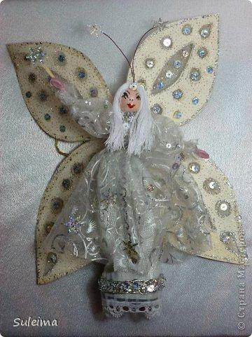 Мастер-класс Поделка изделие Новый год Лепка Шитьё Ангелы и феечки на елку новогодняя игрушка фото 40
