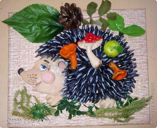 Поделка в детский сад на тему осень фото из соленого теста