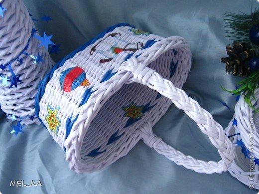 Доброго всем дня!!!!!!!! Решили мы с Машей ( https://stranamasterov.ru/user/194969 ) в  этом году поучаствовать  в Новогодней Ярмарке и по этому поводу сплелись небольшие наборчики-малявочки для будущих покупателей. Это один из них. фото 11