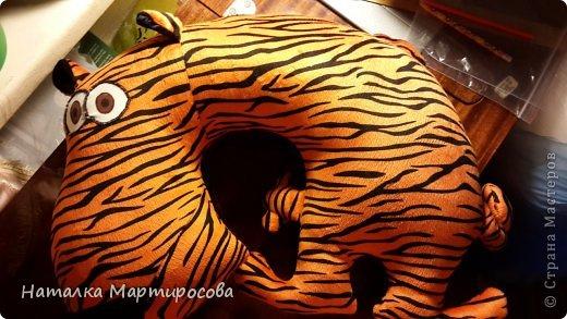 Игрушка-подушка тигр своими руками 41