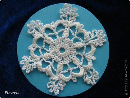 Снежинка в технике Пейп-арт фото 3