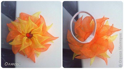 Вот какие цветики делала я в последнее время... Заколка-цветочек. МК, которые помогали: https://stranamasterov.ru/node/634861?c=favorite_c и https://stranamasterov.ru/node/404456?c=favorite_c фото 6