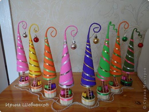 Как я делала ёлочки к Новому году, может кому-то будет интересно)  Ещё есть ёлочки раскрашенные акриловыми красками https://stranamasterov.ru/node/982599 фото 3