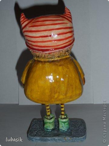 Мастер-класс Поделка изделие Папье-маше Совушки по рисункам Инги Пальцер Бумага Клей Краска Пенопласт Салфетки фото 12