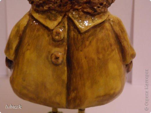 Мастер-класс Поделка изделие Папье-маше Совушки по рисункам Инги Пальцер Бумага Клей Краска Пенопласт Салфетки фото 14