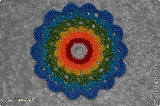 Интерьер Мастер-класс Вязание крючком Цветик-семицветик крючком Нитки Пряжа фото 12