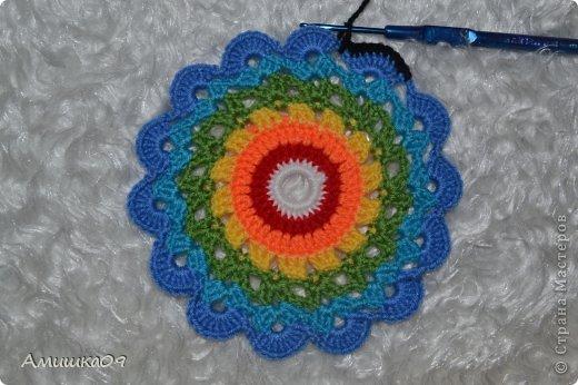 Интерьер Мастер-класс Вязание крючком Цветик-семицветик крючком Нитки Пряжа фото 16