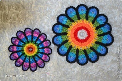 Интерьер Мастер-класс Вязание крючком Цветик-семицветик крючком Нитки Пряжа фото 1