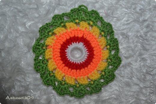 Интерьер Мастер-класс Вязание крючком Цветик-семицветик крючком Нитки Пряжа фото 9