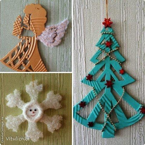 Ангелочки, ёлочки, снежинки для уличной елки фото 2