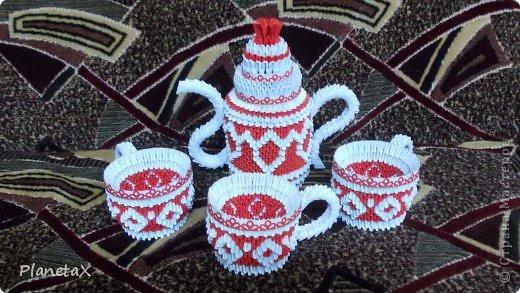 Модульное оригами чайный сервиз схемы сборки