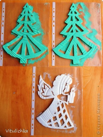 Ангелочки, ёлочки, снежинки для уличной елки фото 5
