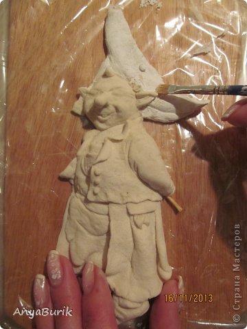 Картина панно рисунок Мастер-класс Лепка Лепка на распечатку МК Клей Краска Тесто соленое фото 7