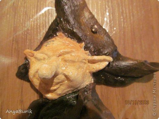 Картина панно рисунок Мастер-класс Лепка Лепка на распечатку МК Клей Краска Тесто соленое фото 13
