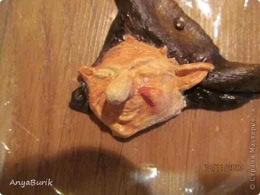 Картина панно рисунок Мастер-класс Лепка Лепка на распечатку МК Клей Краска Тесто соленое фото 14