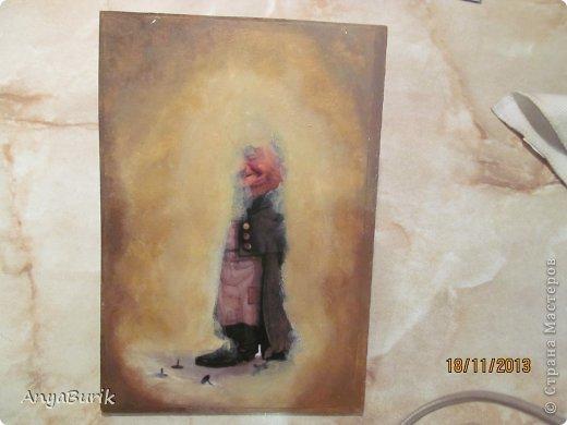 Картина панно рисунок Мастер-класс Лепка Лепка на распечатку МК Клей Краска Тесто соленое фото 16