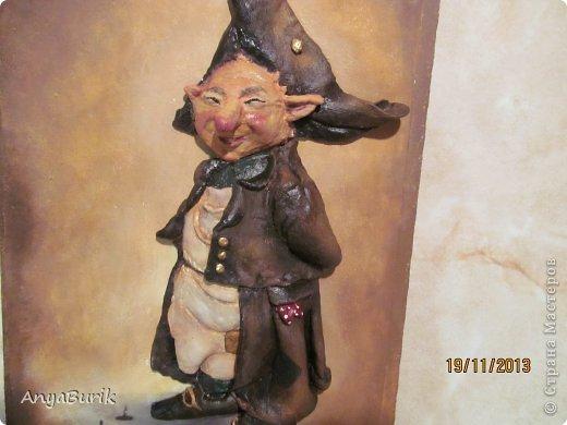 Картина панно рисунок Мастер-класс Лепка Лепка на распечатку МК Клей Краска Тесто соленое фото 17