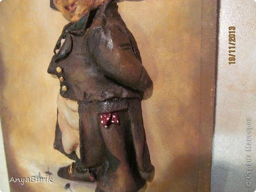 Картина панно рисунок Мастер-класс Лепка Лепка на распечатку МК Клей Краска Тесто соленое фото 18