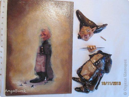Картина панно рисунок Мастер-класс Лепка Лепка на распечатку МК Клей Краска Тесто соленое фото 19