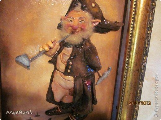 Картина панно рисунок Мастер-класс Лепка Лепка на распечатку МК Клей Краска Тесто соленое фото 21