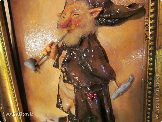 Картина панно рисунок Мастер-класс Лепка Лепка на распечатку МК Клей Краска Тесто соленое фото 20